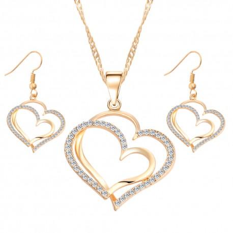 Parure romantique d'orée en forme de cœur