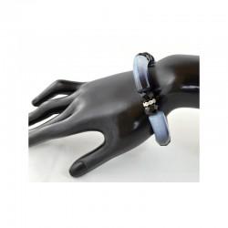 Bracelet acrylique Perles de verre et Strass sur élastique