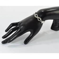 Bracelet Couleur Infini Strass L20cm