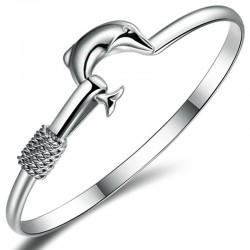Bracelet dauphin argenté