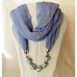 écharpe bleu clair