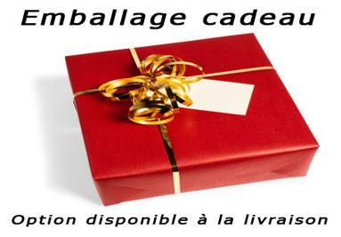 Emballage cadeau, option disponible à la livraison